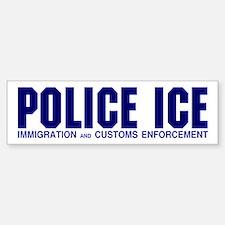 POLICE ICE Bumper Car Car Sticker