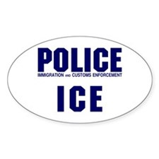 POLICE ICE Oval Decal