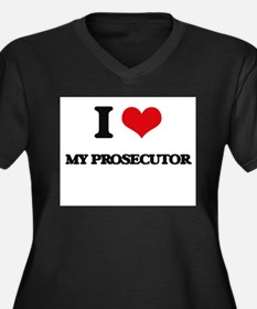 I Love My Prosecutor Plus Size T-Shirt