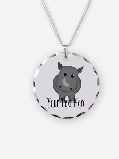 Rhino Baby Necklace