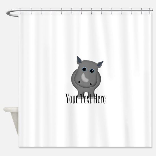 Rhino Baby Shower Curtain