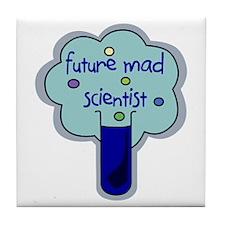 Future Mad Scientist Tile Coaster