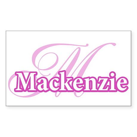 Mackenzie Rectangle Sticker