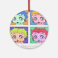 Betty Boop Pop Art Round Ornament