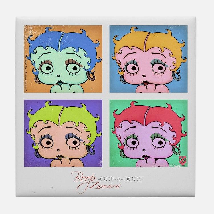 Betty Boop Pop Art Tile Coaster