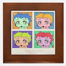 Betty Boop Pop Art Framed Tile