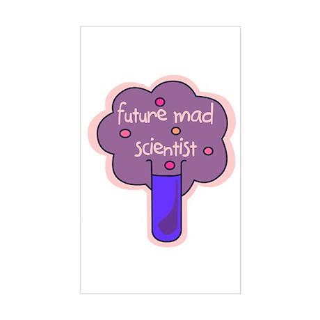 Future Mad Scientist Rectangle Sticker