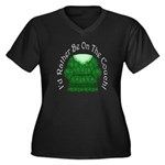 I'd Rather Be on the Couch!Plus Size V-Neck Dark T