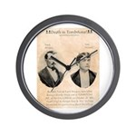 Death in Tombstone Wall Clock