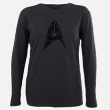 Cute Star trek symbol Plus Size Long Sleeve Tee
