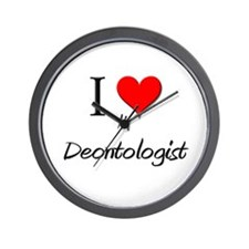I Love My Deontologist Wall Clock