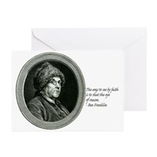 Ben Franklin Quote Greeting Cards (Pk of 10)