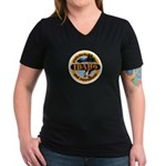 Idaho State Parks & Recreatio Women's V-Neck Dark