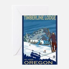 Mt Hood, Oregon - Timberline Lodge Greeting Cards