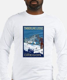Mt Hood, Oregon - Timberline Lodge Long Sleeve T-S