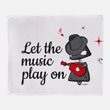 Let the music play on Throw Blanket