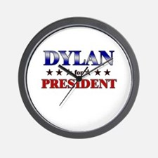 DYLAN for president Wall Clock