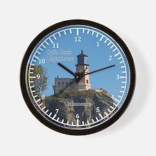 Split Rock Lighthouse From Beach Wall Clock