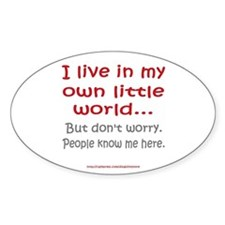 Own Little World Oval Stickers