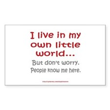 Own Little World Rectangle Decal