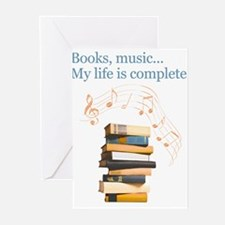Books and music Greeting Cards