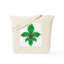 Holly Fleur de lis Tote Bag