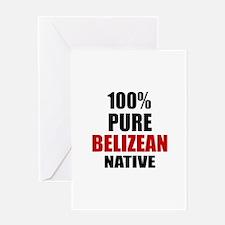 100 % Pure Belizean Native Greeting Card