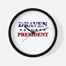 DRAVEN for president Wall Clock