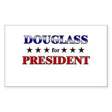 DOUGLASS for president Rectangle Decal