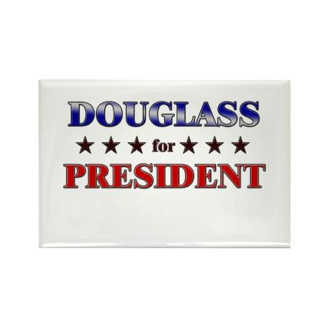 DOUGLASS for president Rectangle Magnet