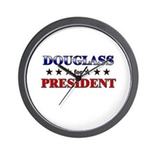 DOUGLASS for president Wall Clock