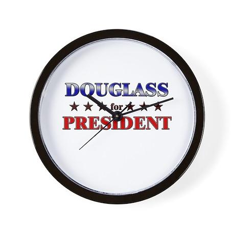 DOUGLASS for president Wall Clock