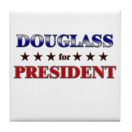DOUGLASS for president Tile Coaster