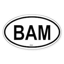 Bam Oval Decal