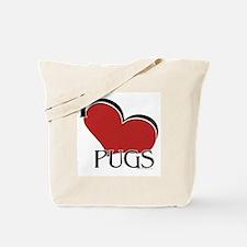 I love Pugs Tote Bag