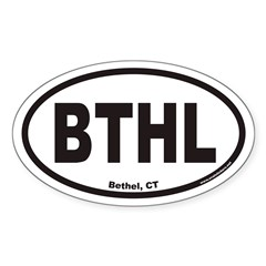 Bethel Connecticut BTHL Euro Oval Decal