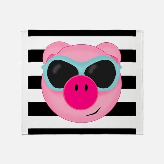 Summertime Pig Throw Blanket