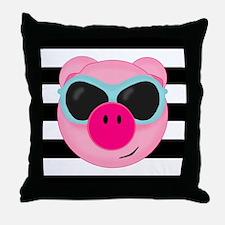 Summertime Pig Throw Pillow