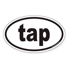 tap euro oval sticker
