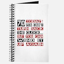 70 Turn Back Birthday Designs Journal