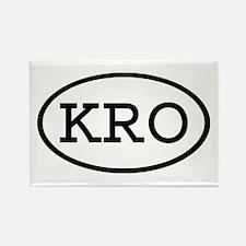 KRO Oval Rectangle Magnet