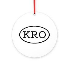KRO Oval Ornament (Round)