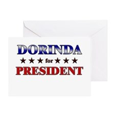 DORINDA for president Greeting Card