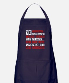 70 Turn Back Birthday Designs Apron (dark)