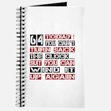 64 Turn Back Birthday Designs Journal