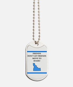 i hate this state Dog Tags