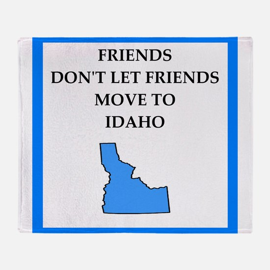 i hate this state Throw Blanket