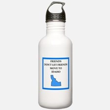 i hate this state Water Bottle
