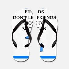 michigan Flip Flops