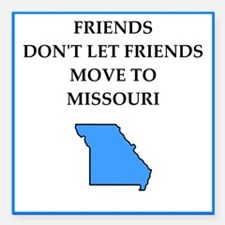 """i hate this state Square Car Magnet 3"""" x 3"""""""